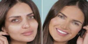 اخفاء عيوب الوجه بالمكياج