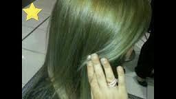 صبغة شعر اخضر زيتون